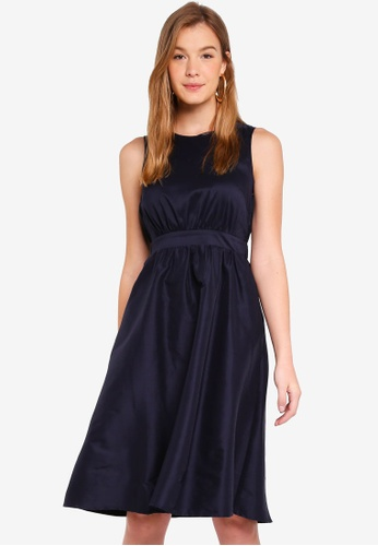 ESPRIT navy Light Woven Midi Dress 3DA80AA95E1C5BGS_1