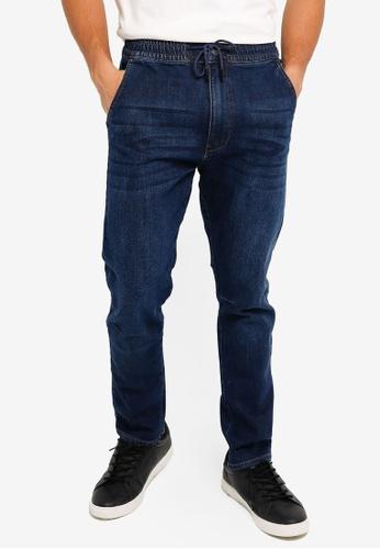 Electro Denim Lab blue Stretch Drawstring Jeans FF414AA36956D6GS_1
