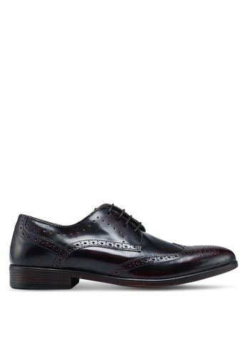 Burton Menswear London red Burgundy Leather Hi Shine Brogues FCEDDSHE90D2DEGS_1