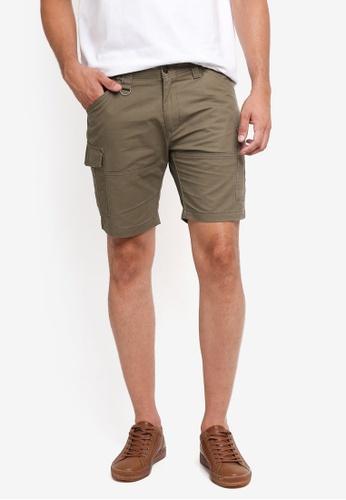 Sparrow Green 綠色 Clive Cargo Shorts 57167AA68FA365GS_1
