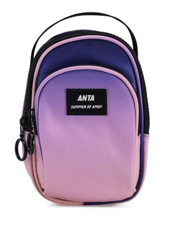 Anta purple Amoy Summer Satchel Sling Bag 3470DAC39786D0GS_1