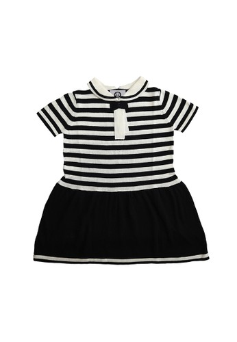 ET Panda black and white Extra Terrestrial Panda 100% Cotton Black & White Stripe Dress 69A36KAE4BF1E7GS_1