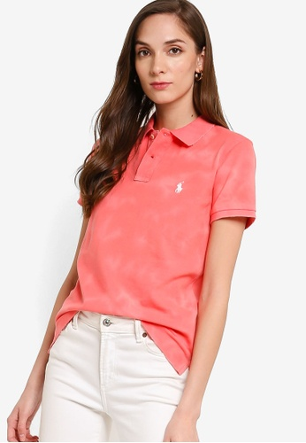 polo ralph lauren red Short Sleeve Fray Polo Shirt 6E3A9AA74D5D9CGS_1