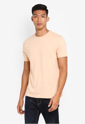 Topman 橘色 Apricot Slim T-Shirt FFCCAAAFA14C63GS_1