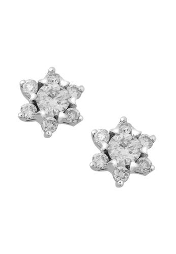 TOMEI white Diamond Earrings of Splendiferous Starry Luminous Diamantes - Tomei White Gold 375 (E1103) B5195AC3A2552CGS_1