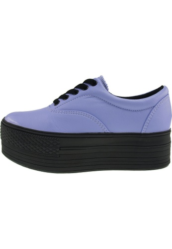 Maxstar 紫色 新款韩国鞋C50-5H-TC時尚皮革布混合女紫色 US Women Size MA345SH04GTBTW_1