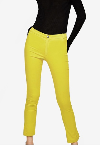 Mango yellow Slim-Fit Stretch Trousers 16EEBAA23184A5GS_1