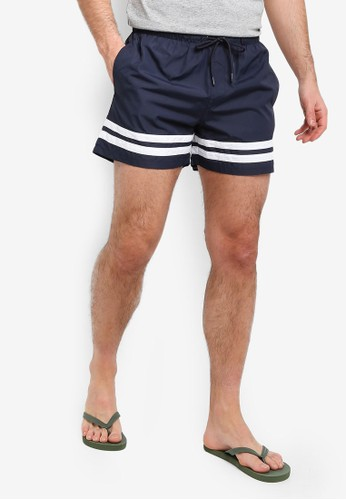 Brave Soul multi and navy Striped Swimshorts 9ADDDAA9B8BD98GS_1