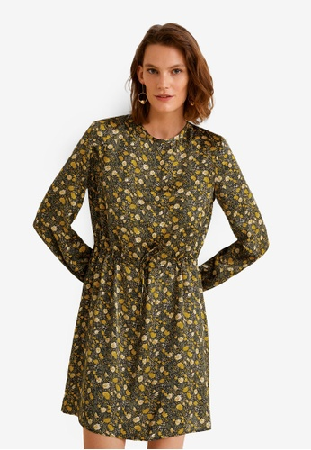 MANGO green and multi Floral Print Dress D506EAA05BF117GS_1