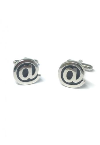 Splice Cufflinks silver At Sign Cufflinks   SP744AC80DSPSG_1