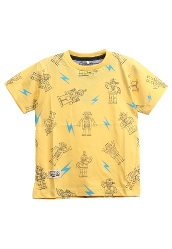 ORKIDS WEAR yellow ORKIDS Baju Kaos Anak Trobot - Yellow B9A91KA54AF5D8GS_1