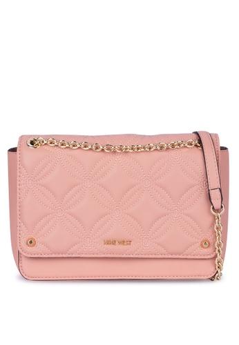 Nine West pink Ember Convertible Crossbody Flap Bag 6B0B7ACC8B0FC9GS_1