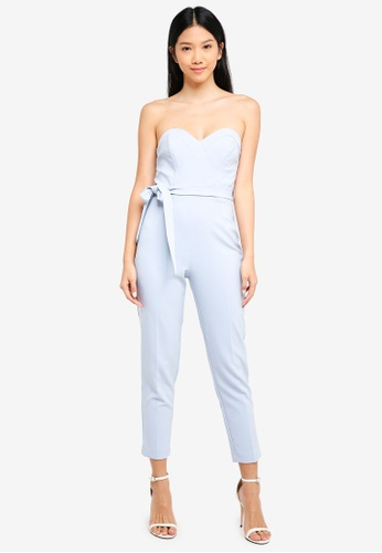 fda1eeea832e Buy Miss Selfridge Int  Petite Sheart Tie Jumpsuit Online on ZALORA ...