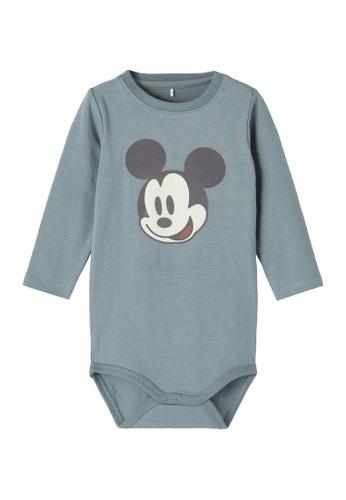 NAME IT blue Mickey Alani Long Sleeves Bodysuit 6B6F9KA741FD47GS_1