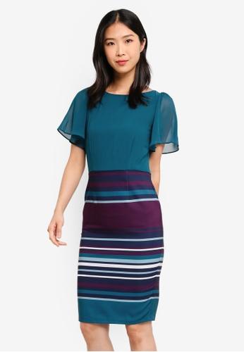 Paper Dolls blue Stripe Skirt Dress 49959AA67BA05DGS_1