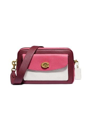 Coach white and red Coach Cassie Camera Bag In Colorblock 638 080AEAC37A16DFGS_1