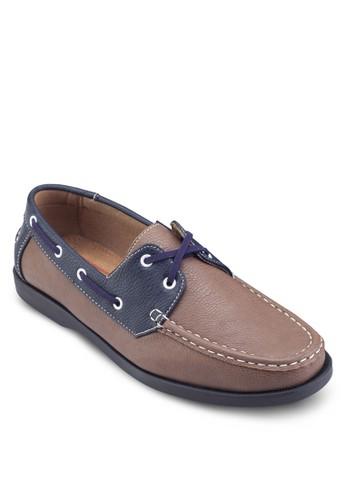 穿孔esprit 衣服繫帶雙色船型鞋, 鞋, 船型鞋