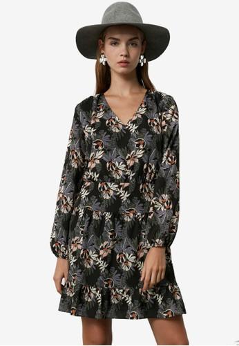 Trendyol multi Floral Print Ruffled Panel Dress EFD7CAAB3C345DGS_1