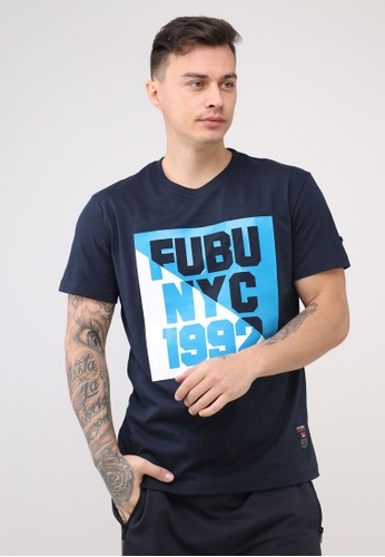 Fubu Boys navy Round Neck Regular Fit T-Shirt F976EAA7188204GS_1