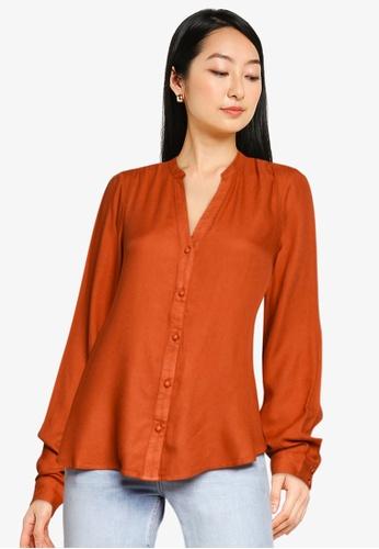 Vero Moda orange Neela Ls Shirt A9F9CAABC20C2DGS_1