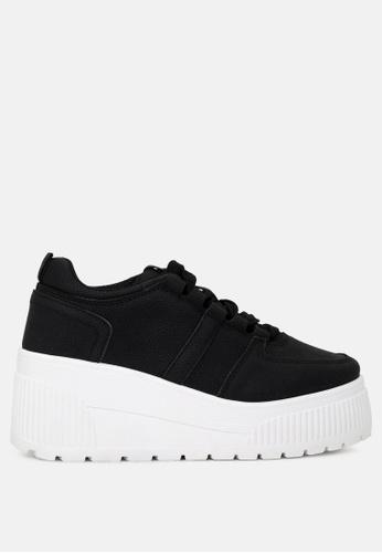 London Rag 黑色 系带休闲板鞋 BE402SH2F1629CGS_1
