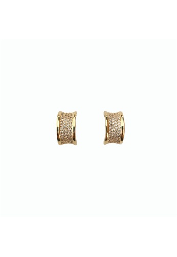 LOVE AND LIFE gold Love & Life Aurora Ring Earrings (Yellow Gold) Premium Crystals B00A1ACE94F8D1GS_1