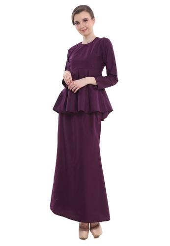 Amar Amran purple Peplum Saloma 3081DAA6C1F78FGS_1