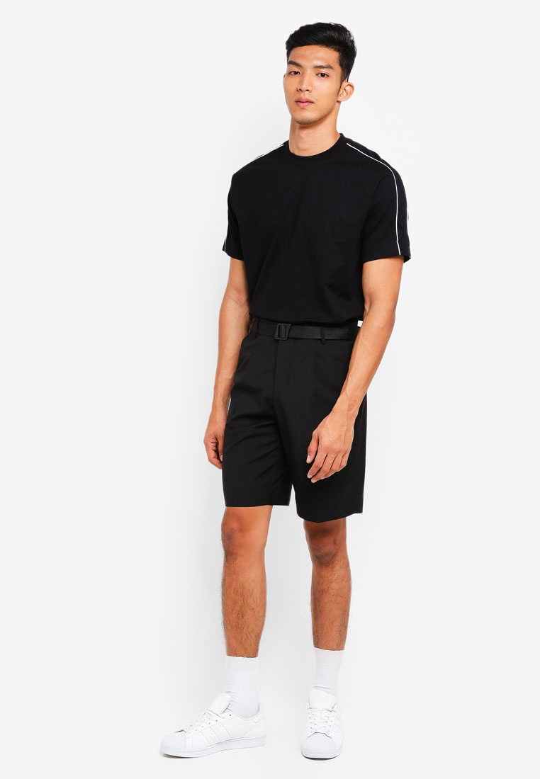 AT Stitch TWENTY black Contrast Heavy Tee xtYwc1T