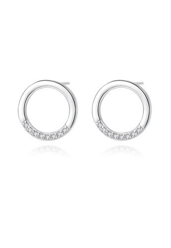 SUNRAIS silver High quality Silver S925 silver simple design earrings A2846AC9C4CC43GS_1