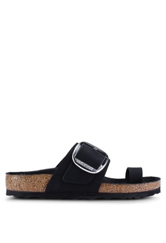 3dc5003684ac Birkenstock black Miramar Big Buckle Oiled Leather Sandals  5BC54SHAC4F97DGS 1