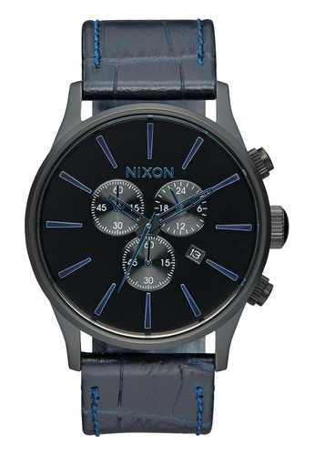 Nixon blue Nixon - Sentry Chronograph Leather Navy Watch NI855AC74EAVSG_1