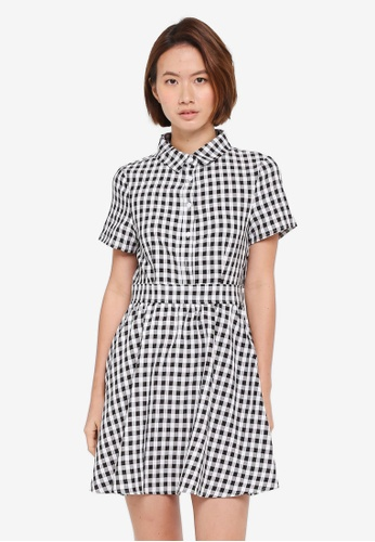 ZALORA multi Fit & Flare Shirt Dress B5DBDAAE0939E2GS_1