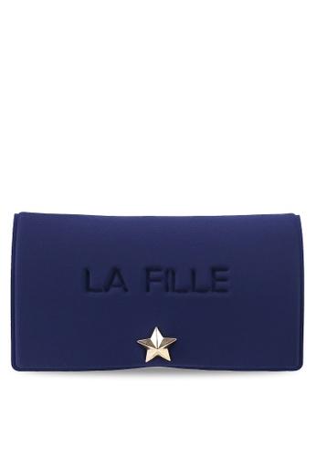 La Fille Des Fleurs blue Grand Palais Wallet 30217ACC4520DAGS_1
