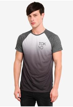f48372ff1d1 Burton Menswear London grey Grey Dip Dye Raglan T-Shirt ECB02AA906190CGS 1