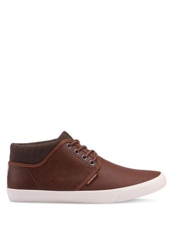 Jack & Jones brown Vince Mid Top Sneakers D60A6SHC89603DGS_1