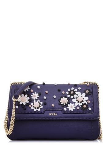 BONIA blue Dark Blue Nitza Sling Bag BO777AC48CMPMY_1