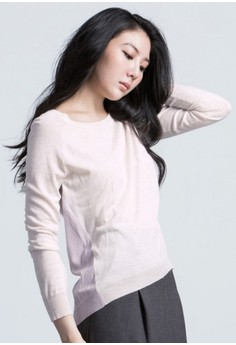 Cozy Ways Paneled Pullover