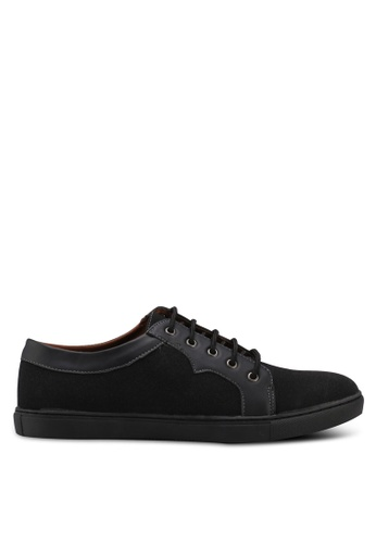 Rocklander black Solid Tone Lace Up Sneakers 551BESH7869826GS_1