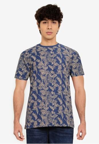 Springfield blue Ethnic Print T-Shirt 4C346AA981314AGS_1