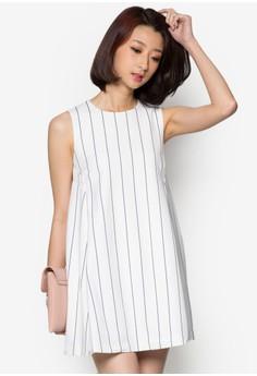 Vertical Stripes Swing Dress