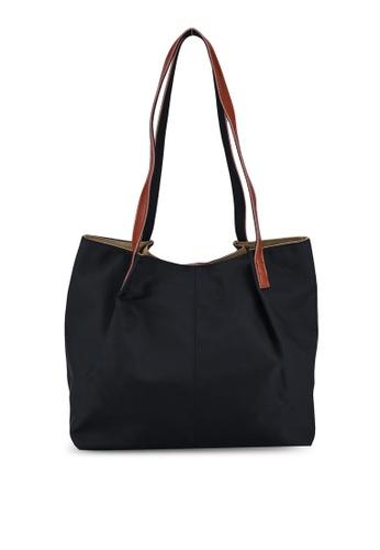 NUVEAU black Oxford Nylon Tote Bag 9E1E3ACE194134GS_1