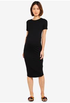 7faab77a7f72 Dorothy Perkins black Maternity Black Short Sleeve Bodycon Dress  880D0AAA7A8A5CGS 1