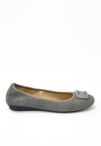 Twenty Eight Shoes grey Suede Leather Flats JD155 77B4CSH81D9BFFGS_1
