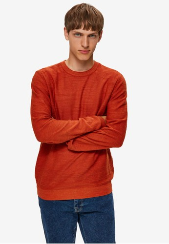 Selected Homme red Crew Neck Jumper FD2FCAA0F5BE94GS_1