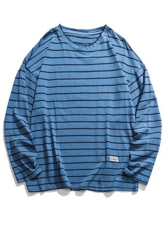 Twenty Eight Shoes Loose Contrast Stripe Long T-shirt HH9676 0B226AAF4135D0GS_1