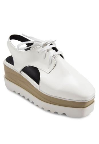 木根厚底鏤空德esprit 工作比鞋, 韓系時尚, 梳妝
