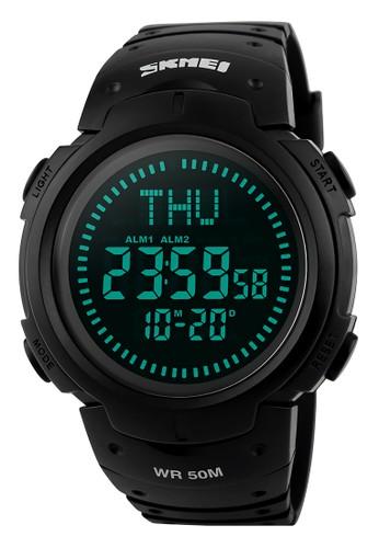 Digitec black Skmei Digital Compass - Jam Tangan Pria - Black Resin - 1231-A DI108AC98MPXID_1