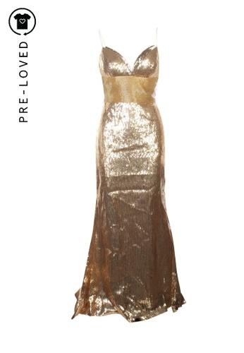 Sherri Hill gold Pre-Loved sherri hill Maxi Sequins Gold Dress F62D0AACC48F3EGS_1