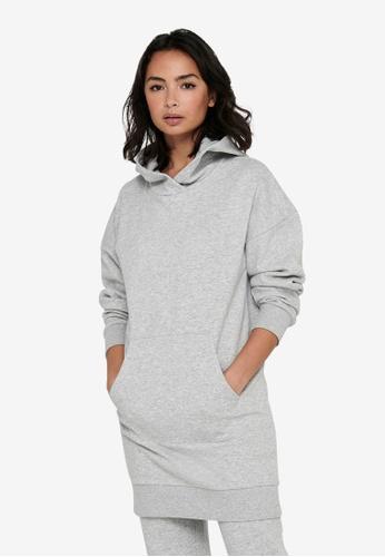 JACQUELINE DE YONG grey Cathrin Life Sweat Dress D356EAAE95C423GS_1