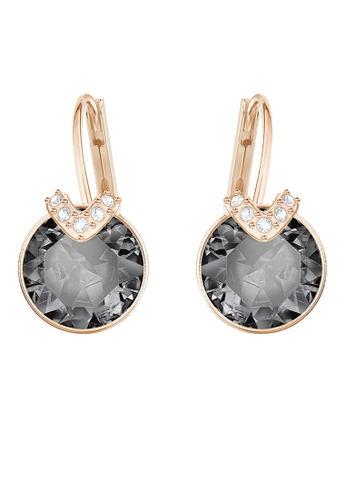Swarovski black and gold Bella V Pierced Earrings 71045ACE97D049GS_1